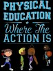 PE Advocacy Poster Bundle: 6 Physical Education Typography & Animation Visuals