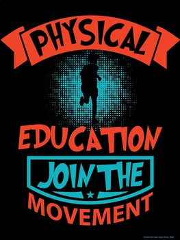 PE Advocacy Poster Bundle: 6 Physical Education Typography & Image Visuals