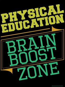 PE Advocacy Poster: Physical Education…Brain Boost Zone