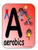 PE Alphabet Wall Cards