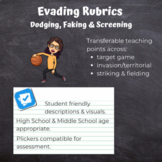 PE Assessment Evading Rubrics (Learning Road Map - Dodging, Faking & Screening)