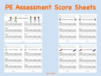 PE Assessment Score Sheets