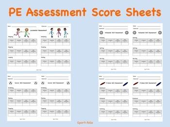 PE Assessment Score Sheets