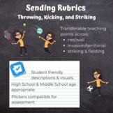 PE Assessment Sending Rubrics (Learning Road Map - throwing, kicking & striking)