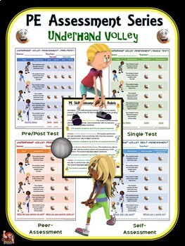 PE Assessment Series: Bundle 3- Volleying, Rolling, Push Ups and Jumping Rope