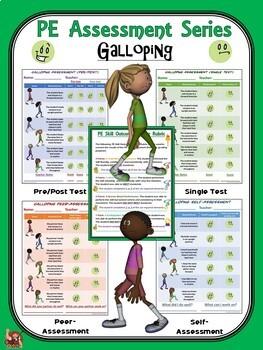 PE Assessment Series: Bundle 4: Locomotor- Gallop, Hop, Leap, Skip, Slide & Jump