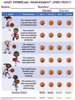 PE Assessment Series: Hand Dribbling- 4 Versions