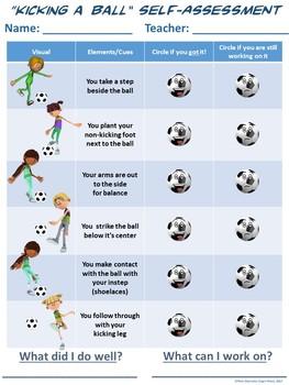 PE Assessment Series: Kicking a Ball- 4 Versions