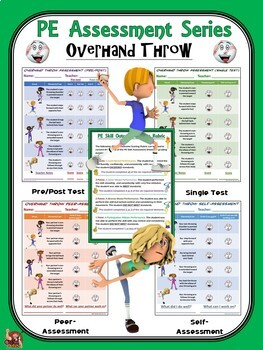 PE Assessment Series: Overhand Throw- 4 Versions