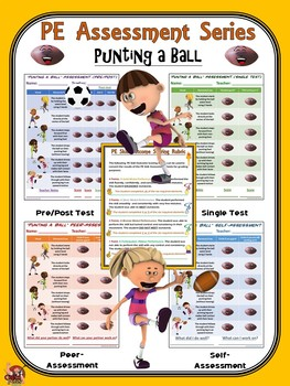 PE Assessment Series: Punting a Ball- 4 Versions