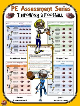 PE Assessment Series: Throwing a Football- 4 Versions