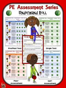 PE Assessment Series: Underhand Roll- 4 Versions