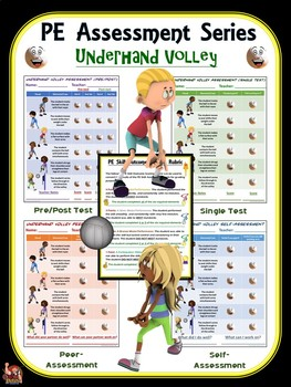 PE Assessment Series: Underhand Volley- 4 Versions