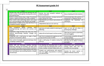 PE Assessment grade 3 - 6