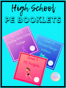 Physical Education Booklet Bundle (Grades 9-12)