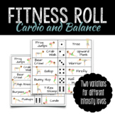 PE Cardio and Balance Fitness Roll | Distance Learning