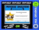 PE Certificate - Editable