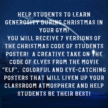 PE Christmas Posters - Code of Students Posters!
