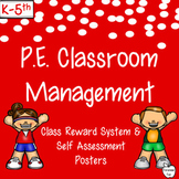 PE Classroom Management ~ Self Assessment Posters & Reward System
