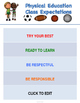 PE Class Posters Set of 5 - EDITABLE