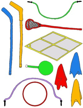 PE Clip Art Mega Pack:  Over 200 PNG's for Physical Education and Field Day!