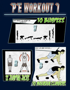 PE Comic Book Workout 1
