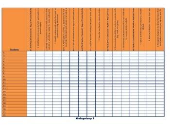 Common Core Grading Checklist K-8 for PE teachers