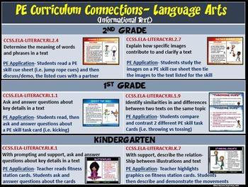 PE Curriculum Connection: Integrating Language Arts (Informational Text) into PE