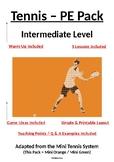 PE Dept - Tennis - Intermediate Level Pack - 5 x Lesson Plans