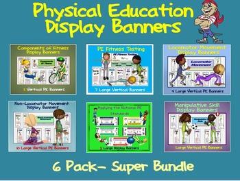 PE Display Banners (Large)- 6 Pack Super Bundle