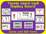 Tennis Word Wall Display: Skill, Graphics & Game Terms