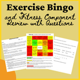PE Distance Learning Exercise Bingo and Fitness Component