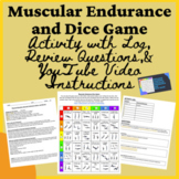 PE Distance Learning Muscular Endurance Dice Activity, Log