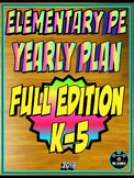 PE Elementary Physical Education K-5 Yearly Plan 6