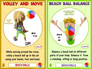 PE Equipment Challenge Cards - 24 Beach Ball Tasks (includes PowerPoint)