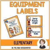 PE Equipment Labels Elementary School