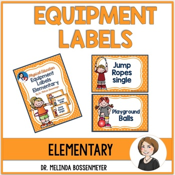 PE Equipment Labels Elementary School