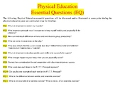 Physical Education Essential Questions (EQ) and Vocabulary Word Wall