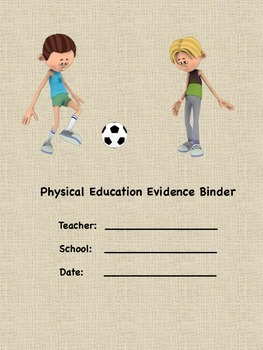 PE Evidence Binder Inserts for Danielson's Framework - Weave