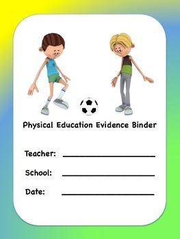 PE Evidence Binder Inserts for Danielson's Framework - YelBlGn
