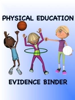 PE Evidence Binder Inserts for Danielson's Framework - Blue Boarder