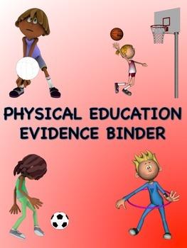 PE Evidence Binder Inserts for Danielson's Framework - Red
