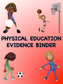 PE Evidence Binder Inserts for Danielson's Framework - Red