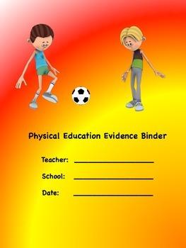 PE Evidence Binder Inserts for Danielson's Framework - Red Yellow Orange