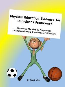 PE Evidence for Danielson's Framework (1b) Editable