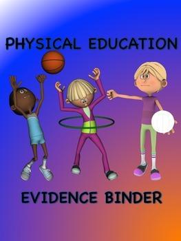 PE Evidencr Binder Inserts for Danielson's Framework - PurBlOr Boarder