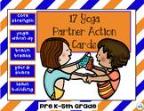 PE Exercise & Brain Break Partner Yoga Action Task Station Cards