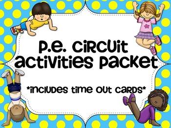 PE Circuit Cards-Indoor Recess Ideas