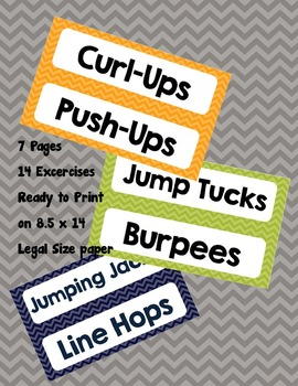 PE Exercise Signs