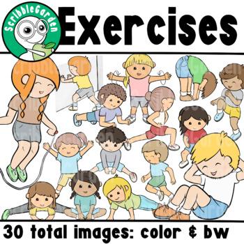 PE Exercises ClipArt